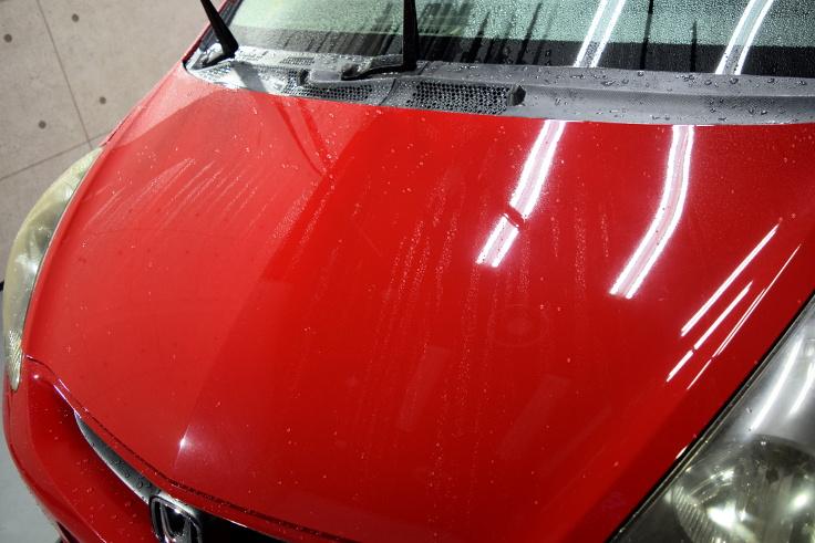 フィット洗車02